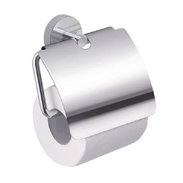 Gedy Eros Toilet Roll Holder With Flap Chrome 2325-13